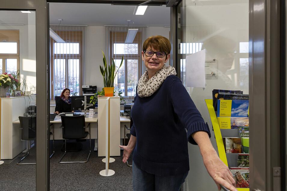 Ramona Oertel arbeitet im neuen Bürgerbüro in der Stadtverwaltung Wilsdruff.