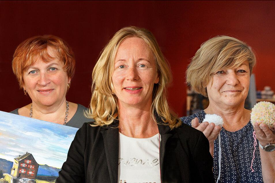 Diese drei Frauen sind unter anderem beim Hinterhoffest in Bischofswerda mit dabei.
