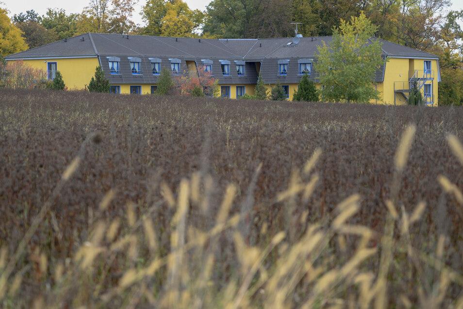 Hier sollen Eigenheime und ein Pflegeheimtrakt entstehen: Blick vom Schönfelder Ortsrand auf die beiden Planungsgebiete.