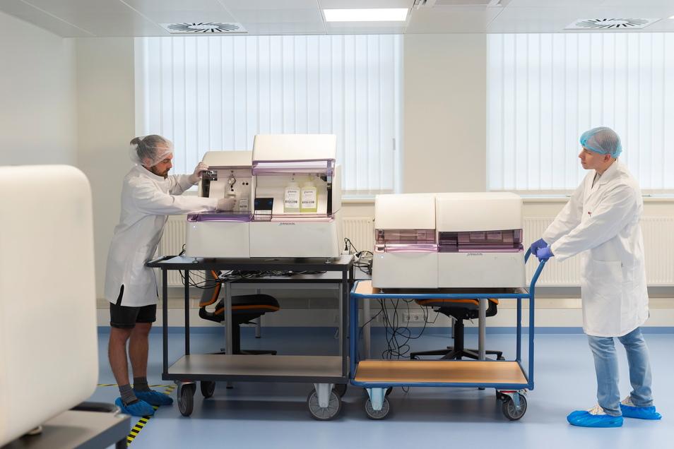 Laborgeräte namens Modaplex sind die Basis für ein ganzes System - das soll der nächste Umsatzrenner für die Dresdner Biotechnologiefirma Biotype werden.