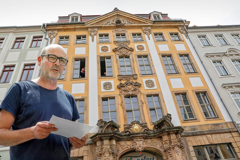Christian Weise ist einer der Inhaber des neuen Hotels am Zittauer Markt. Er hatte als Architekt auch die Sanierung des Barockgebäudes geplant und verantwortet.