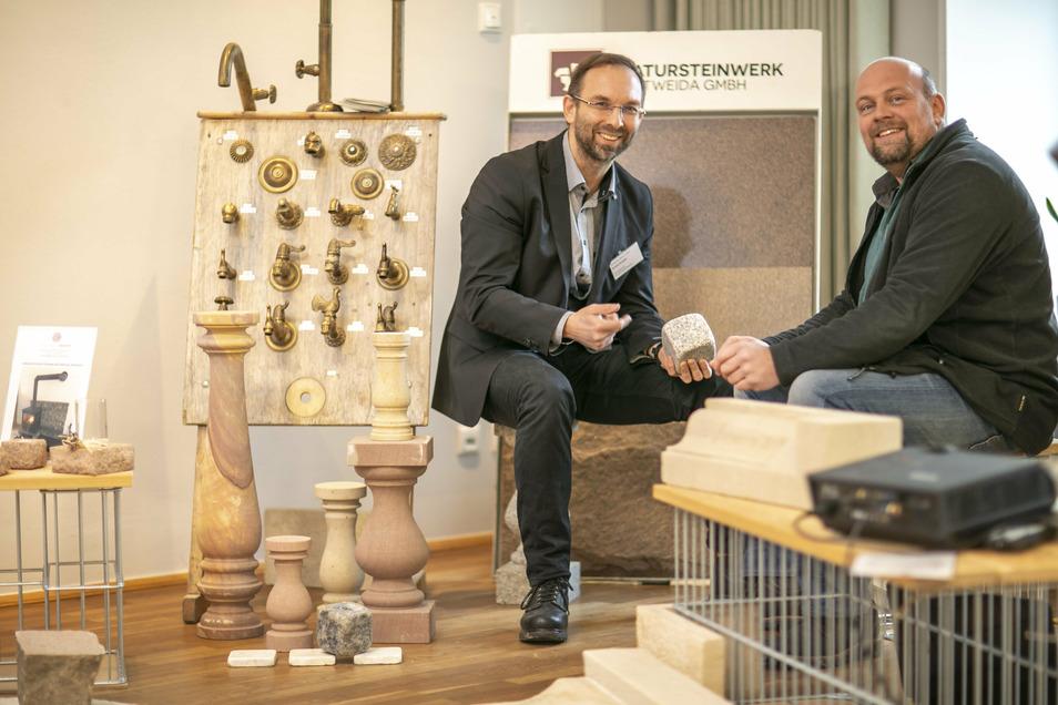 """Dirk Korte (links) und André Knipfer haben sich im vergangenen Jahr an der Veranstaltung """"Ländliches Bauen"""" beteiligt."""