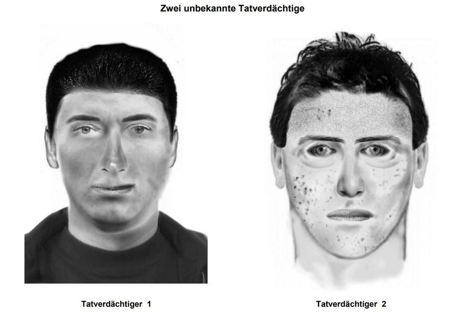 So sollen die Tatverdächtigen aussehen.