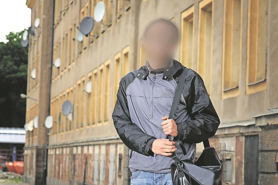 Längere Zeit hat Edris Z. mit seiner Familie im Asylbewerberheim in Döbeln gelebt. Dann zog er nach Leipzig.