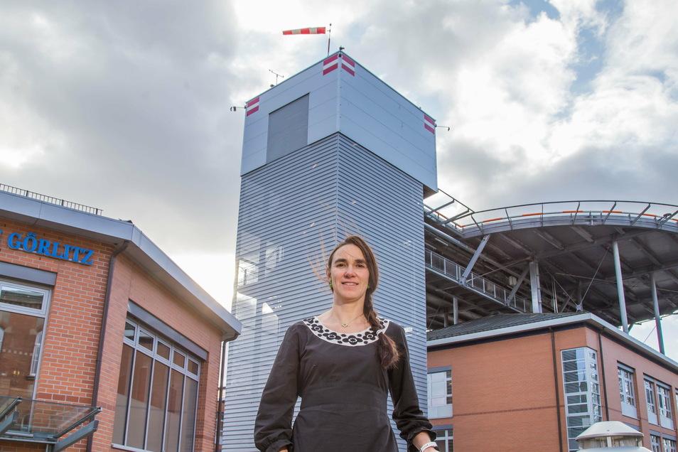 Ines Hofmann muss noch ein wenig zittern um ihre neue Aufgabe im Klinikum Görlitz.