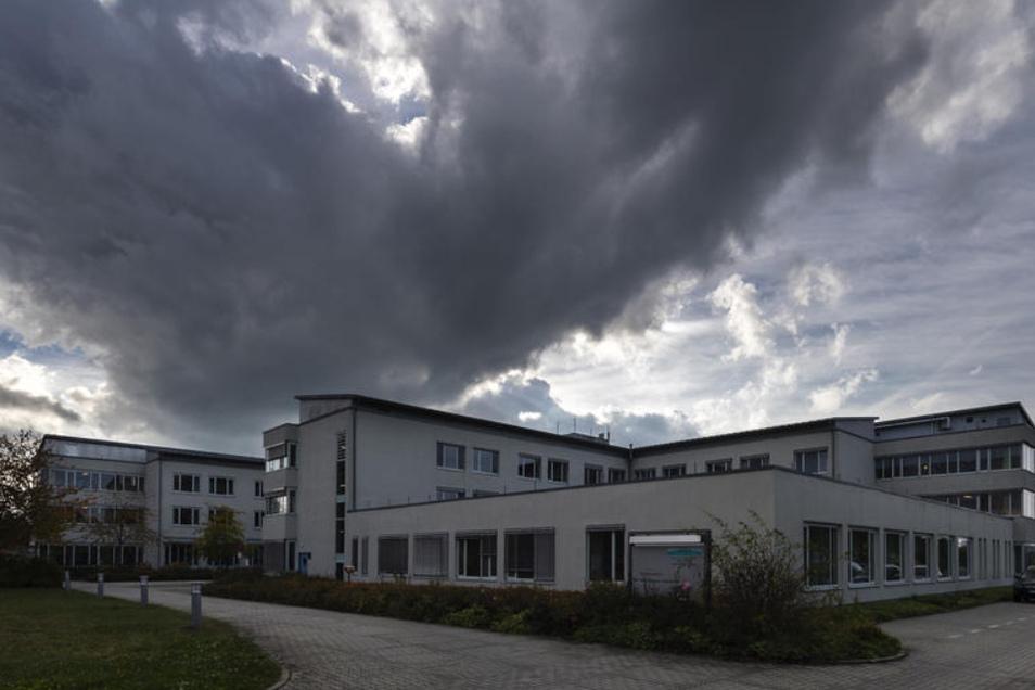 Das Gelände des Krankenhauses Bischofswerda. Dort befindet sich das KfH-Zentrum.