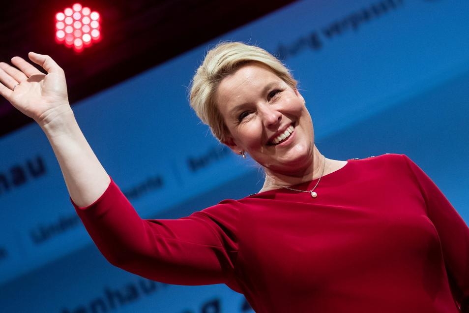 Franziska Giffey (SPD) hat gute Chancen, die erste Regierende Bürgermeisterin Berlins zu werden.