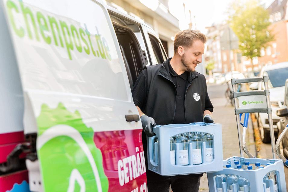 """Die """"Oetker-Gruppe"""" hatte den Lieferdienst """"Flaschenpost"""" im vergangenen Jahr übernommen und mit dem eigenen Online-Getränkelieferdienst """"durstexpress.de"""" zusammengelegt."""