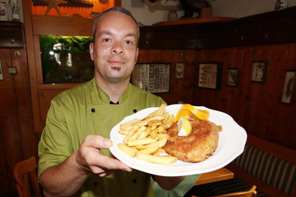 Der Mühlsack ist die Spezialität der Margaretenmühle. Heute gibt es das feine Häppchen mit Pommes Frites statt mit Bratkartoffeln.