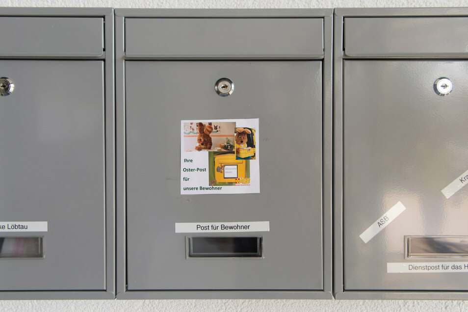 Im Seniorenheim wurde ein Osterhasen-Briefkasten eingerichtet.