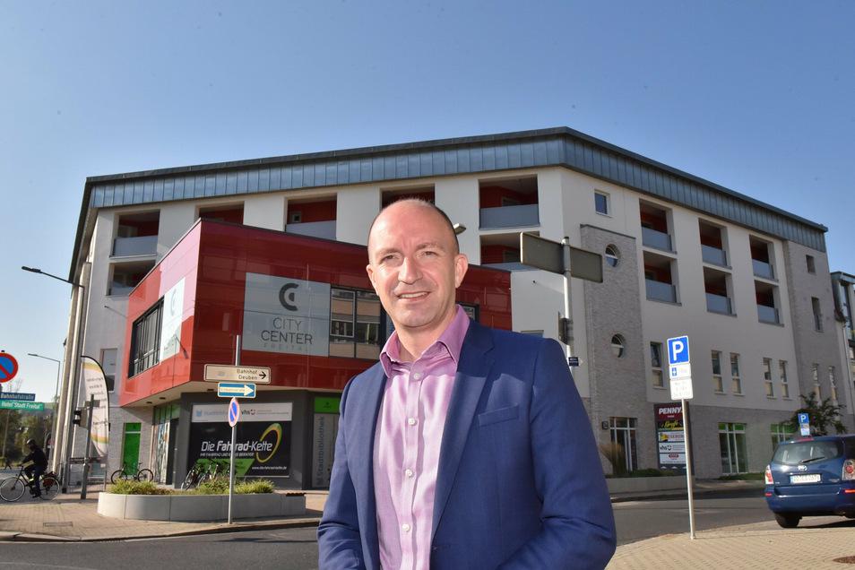 Henryk Eismann ist Geschäftsführer der WGF und freut sich über die Neugestaltung des City Centers.
