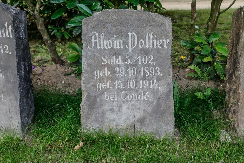 Einer der insgesamt 98 Grabsteine, die jetzt auf dem Oberoderwitzer Friedhof restauriert wurden.