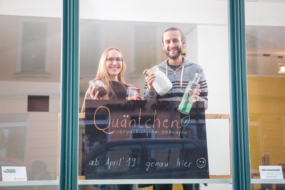 Sie erfüllen sich einen Traum: Sven Wruck und Kathrin Winkler eröffnen einen Unverpackt-Laden in Pieschen. Hier wollen sie Raum zum Entschleunigen schaffen, aber auch ein bisschen aufklären.