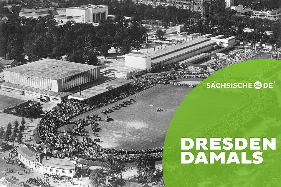 Nach oben offene Beliebtheitsskala: Die Ilgen-Kampfbahn in den 30er- Jahren. Später wurde das Stadion zur Heimat für Dynamo. Für das neue Stadion gilt das bis heute.
