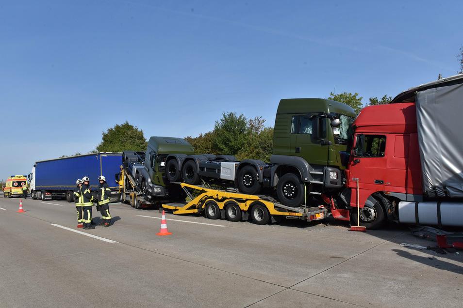 Erst vor wenigen Tagen ereignete sich ein schwerer Unfall auf der A 4 zwischen Wilsdruff und Nossen mit mehreren Lkws.
