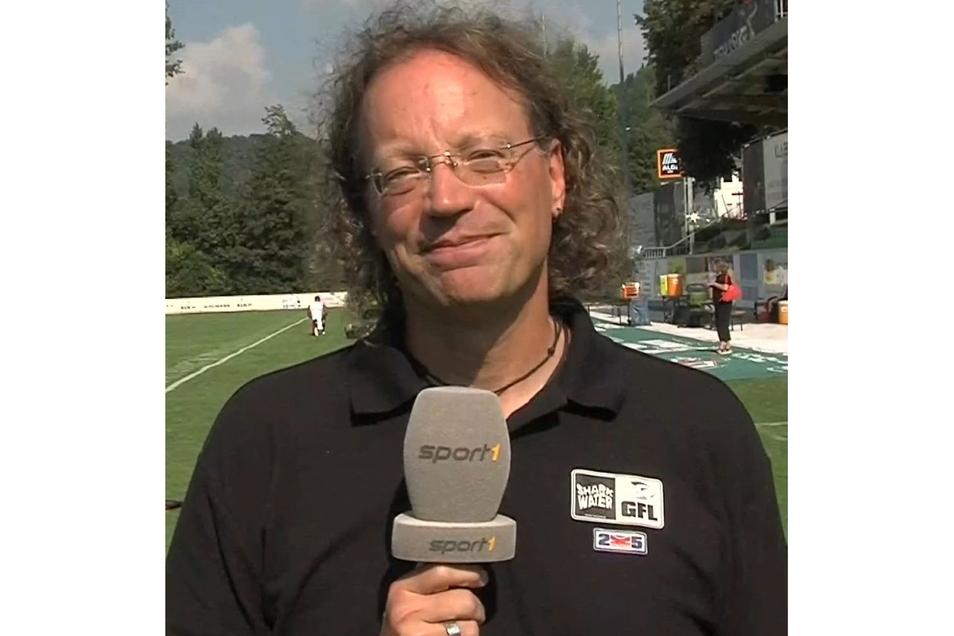 Die Stimme des Footballs: Andreas Renner, 54, kommentiert seit 25 Jahren Spiele fürs Fernsehen.