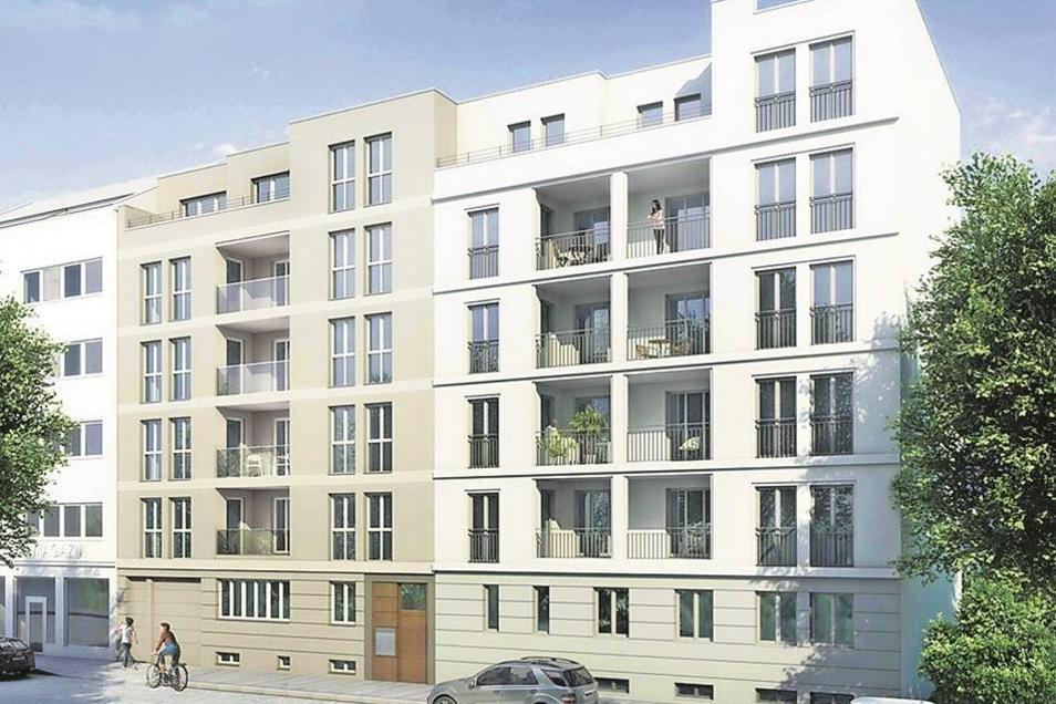 Grüne Straße 12 bis 14 Die Max Wiessner Baugeschäft GmbH hat Zwei- bis Fünf-Raumwohnungen an der Grünen Straße 12/14 errichtet. Jede Wohnung verfügt über eine Loggia. Erste Wohnungen sind bezogen.