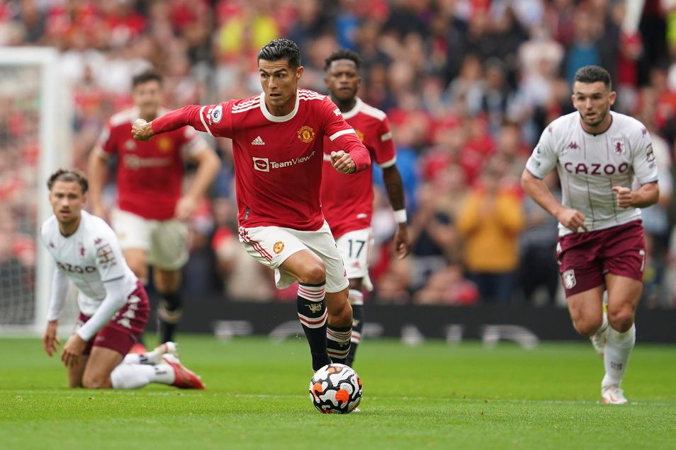 Ronaldo trifft für ManU in der fünften Minute der Nachspielzeit zum Sieg.