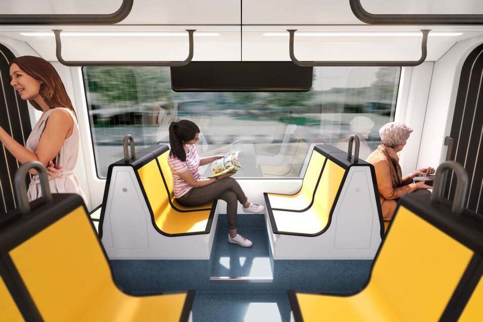Vierersitze soll es auch in den neuen Bahnen geben.