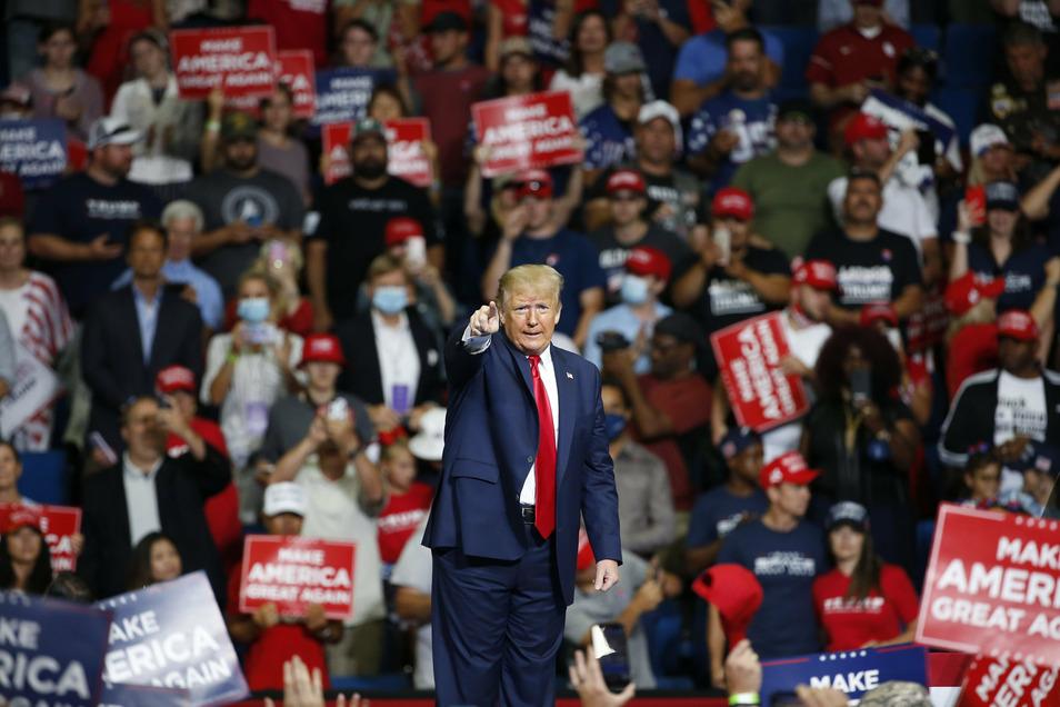 Donald Trump während seiner Wahlkampfveranstaltung in Tulsa.