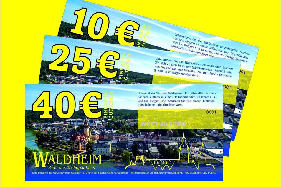 Gutscheine, mit denen die Gewerbetreibenden unterstützt werden können, gibt es jetzt auch in Waldheim. Sie können von Firmen an Mitarbeiter, aber auch privat verschenkt werden.