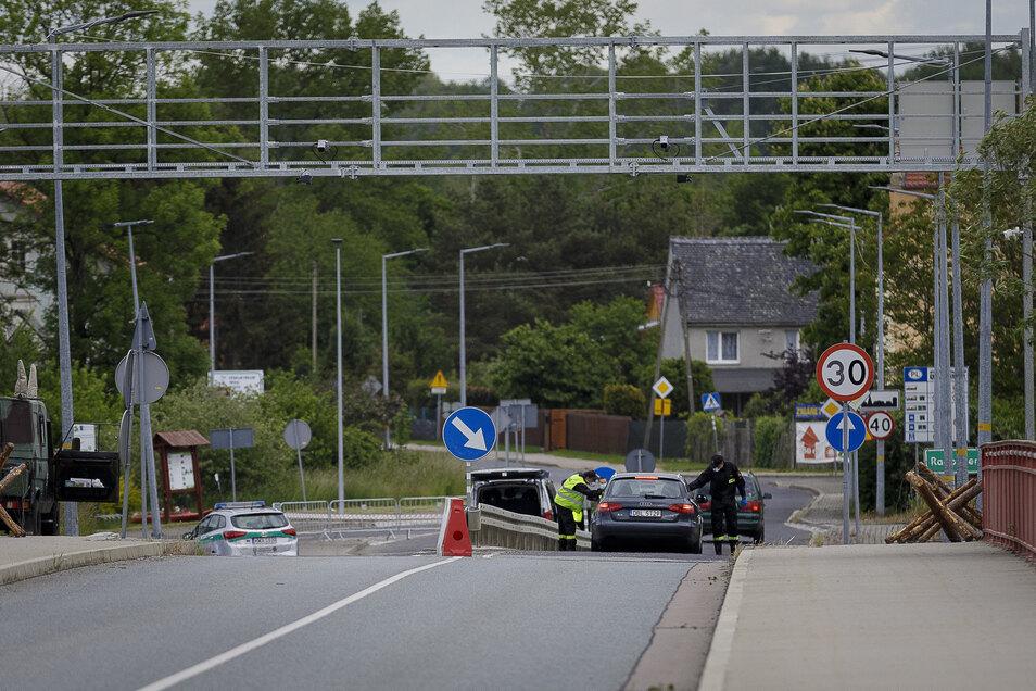 Ruhig ist es derzeit am Grenzübergang nach Polen in Görlitz-Hagenwerder.