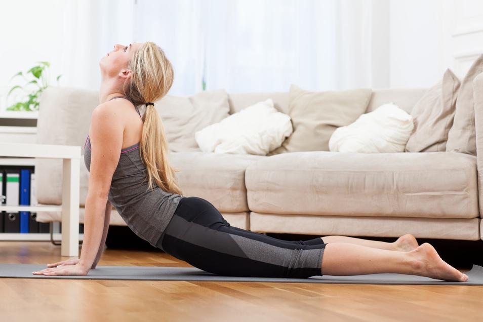 Yoga zu Hause? Das geht, ist aber nichts für Anfänger.