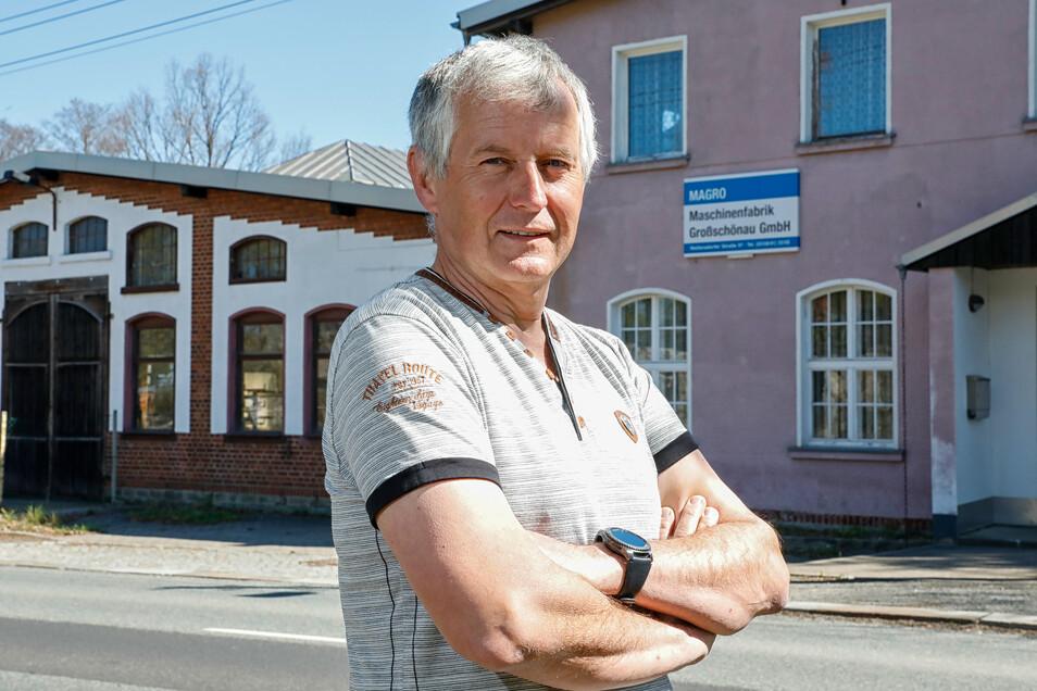 Steffen Golbs hat bei der Magro Maschinenfabrik in Großschönau das Licht ausgemacht. Der Maschinenbau-Ingenieur hat als letzter gekündigt.
