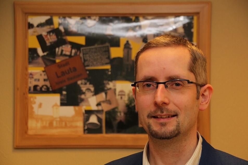 Frank Lehmann (41) ist seit 2015 Bürgermeister der Stadt Lauta. Zuvor war er Kämmerer in der Gemeinde Spreetal.