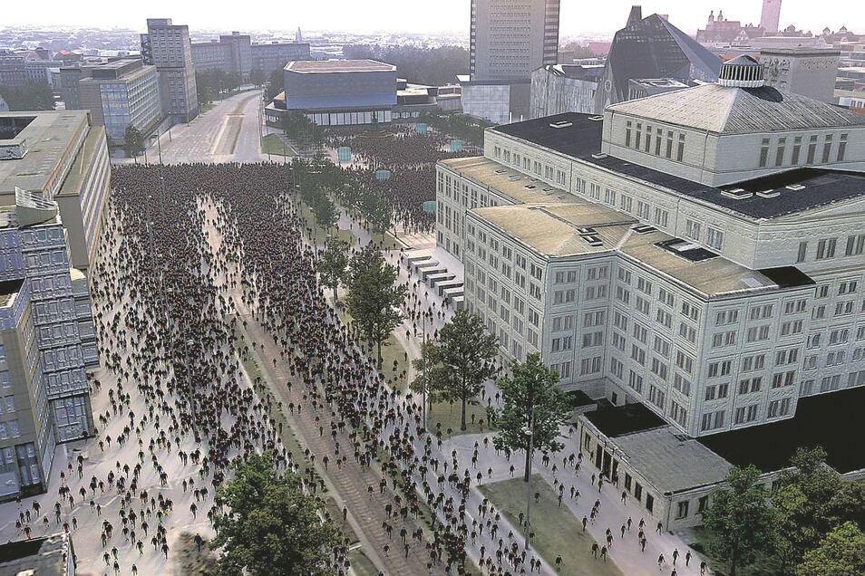 """Clemens von Wedemeyer digitalisiert in """"70.001"""" die Leipziger Montagsdemo vom 9. Oktober 1989."""