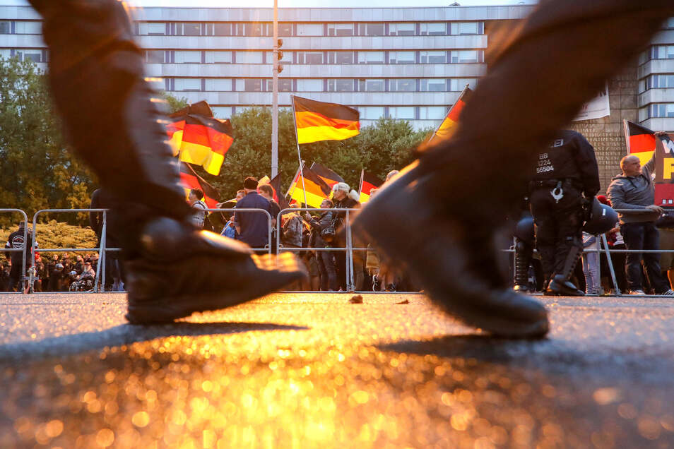 Demonstranten im August 2018 in Chemnitz.