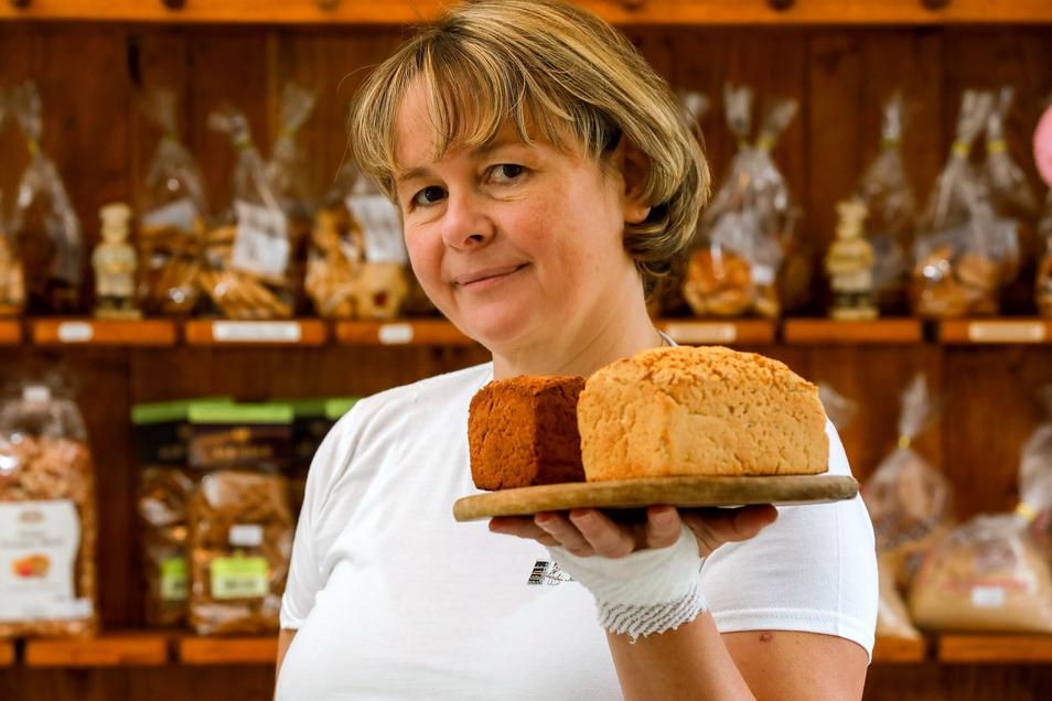 Bäckermeisterin Jacqueline Jarmer aus Kottmarsdorf hat sich auf Brot für Allergiker spezialisiert.
