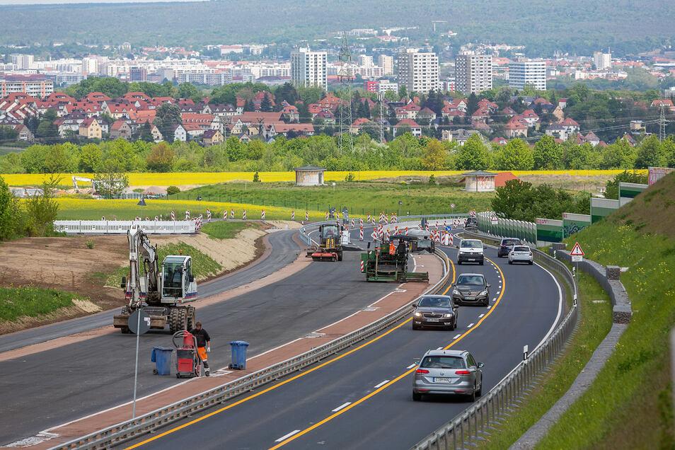 Die B 170 in Bannewitz wird ab dem 12. Juni vorerst wieder ohne Einschränkungen befahrbar sein.