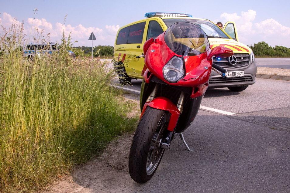 Symbolfoto: Am Dienstagabend kam es in Berbersdorf zu einem Unfall. Die Motorradfahrerin wurde dabei leicht verletzt.