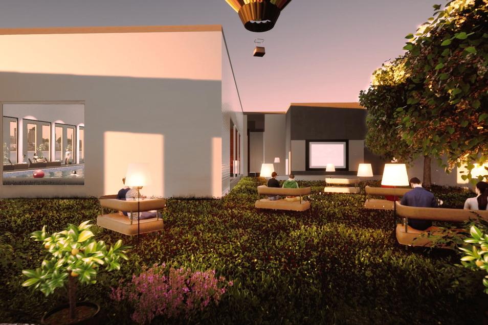 Zwischen den neuen Gebäuden würde ein Innenhof entstehen.