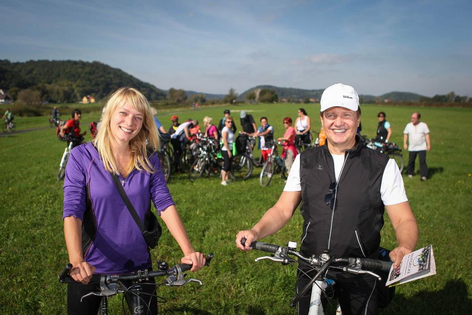 Ein Foto aus leichteren Zeiten: So wie in den früheren Jahren wieder mit seiner Freizeit-Gruppe auf Radtour zu gehen, das erhofft sich Günter Kuhr (r.) für den kommenden Sommer.