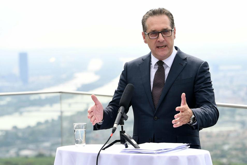 Heinz-Christian Strache ist mit einer eigenen Liste zur Wien-Wahl angetreten, kommt nach ersten Hochrechnungen aber nur auf vier Prozent.