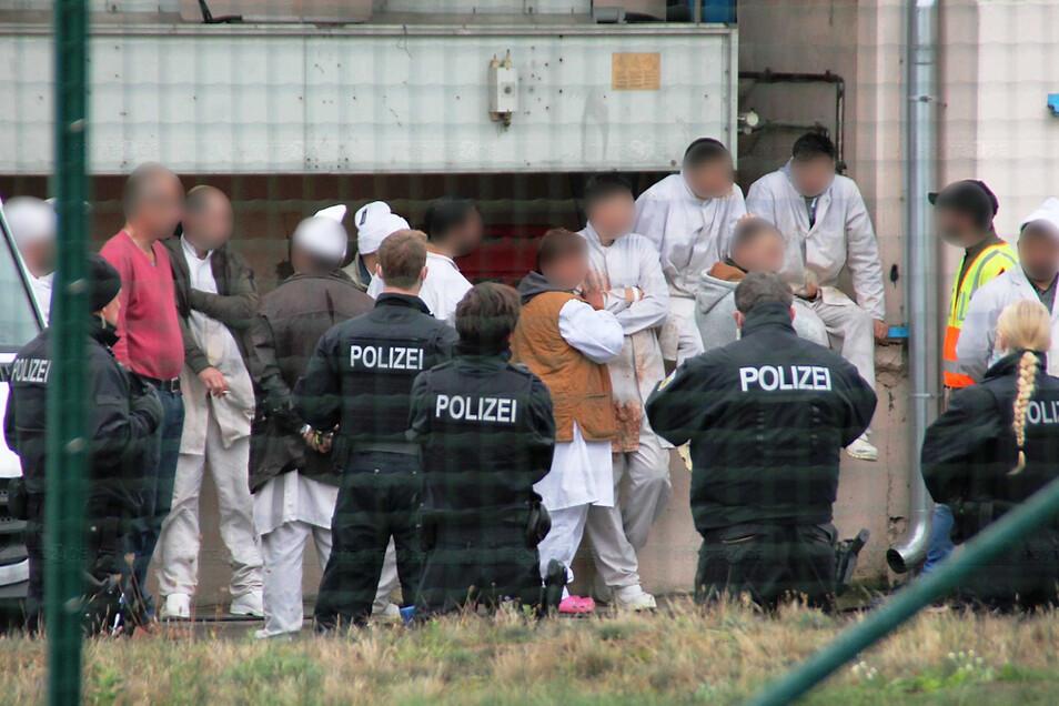 Die Razzia von Zoll und Bundespolizei galt unter anderem einer Döner-Produktionsstätte im Hoyerswerdaer Industriegebiet Zeißig.