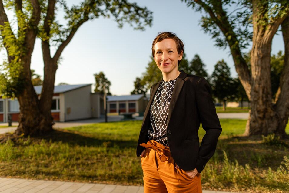 Rückkehrerin Anne Besser hat im alten Zuse-Gymnasium, der heutigen neuen Oberschule, ihren Abschluss gemacht. Damit identifiziert sie sich noch immer.