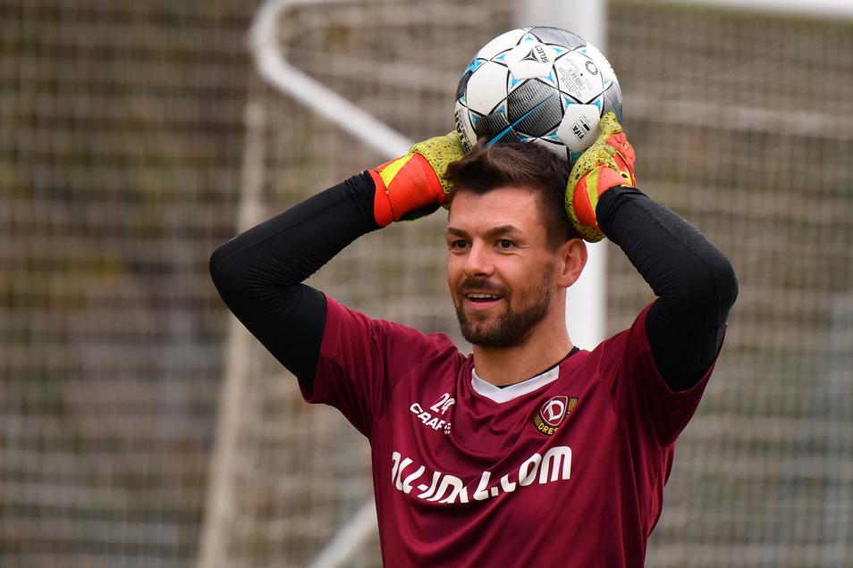 Patrick Wiegers, 29, ist bei Dynamo Dresden derzeit die Nummer zwei im Tor.