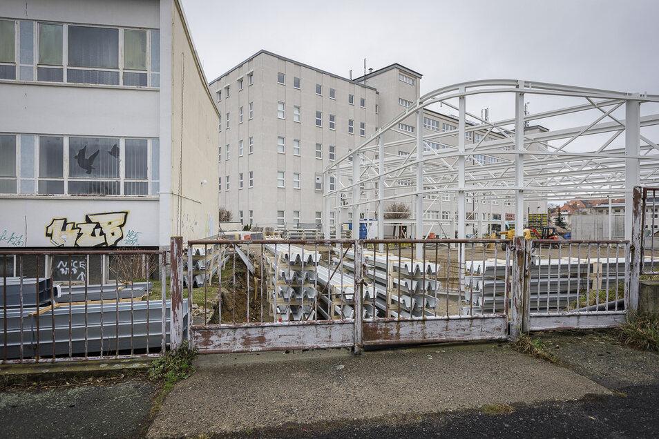 Der Neubau eines Gebäudes bei Sysmex Partec an der Arndtstraße in Görlitz.