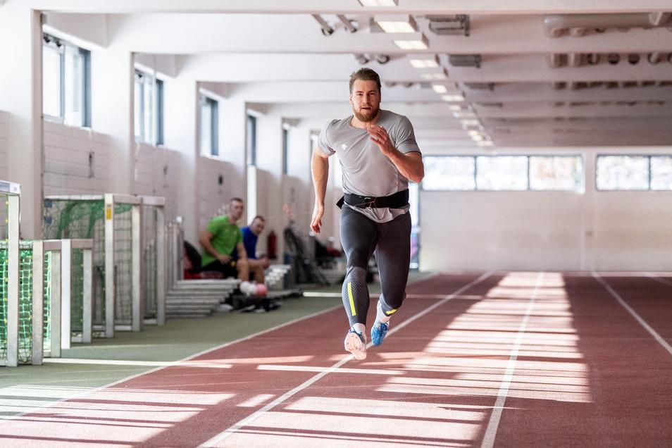 Sonst trainiert Bob-Anschieber Martin Grothkopp in der DSC-Halle. Am Samstag spricht der Olympiasieger dort über seine Erfahrungen mit der dualen Karriere.
