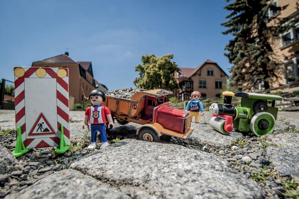 Erst vor anderthalb Jahren wurde die Goethestraße in Kamenz saniert. Jetzt gibt es Probleme.
