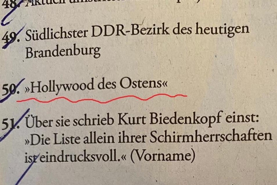 """""""Die Zeit"""" fragt in ihrem Kreuzworträtsel nach Görlitz."""