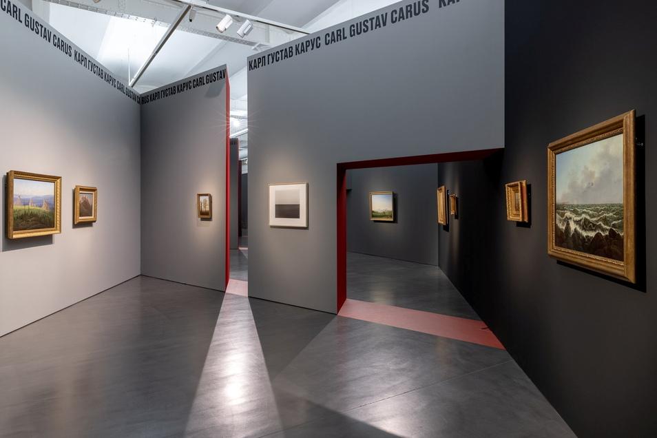 Zackig geht es zu in der vom amerikanischen Stararchitekten Daniel Libeskind entworfenen Ausstellungsarchitektur im Salzgassenflügel des Dresdner Albertinums.