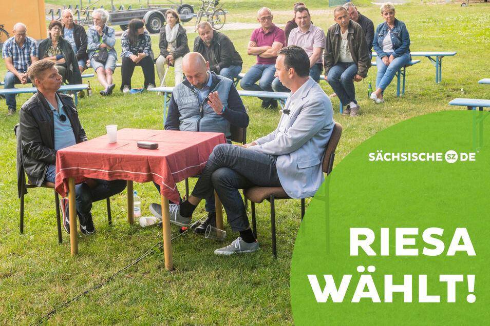 Das Wahlforum am Donnerstagabend auf dem Riesaer Bootshaus-Gelände wurde ins live ins Internet übertragen. Auf der Seite von Riesa-TV ist es in voller Länge abrufbar.
