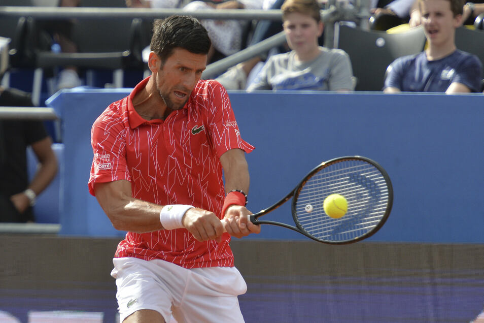 Der Tennis-Weltranglisten-ErstenNovak Djokovic in Zadar.