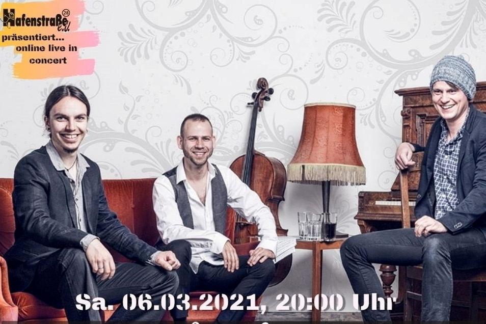 Die Dresdner Band TROjKA wird an diesem Sonnabend die online-Konzertreihe im Hafenstraße e.V. eröffnen.