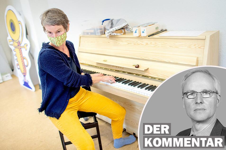 Musiklehrer dürfen in Sachsen jetzt wieder Einzelunterricht geben. Auch andere finden eine Lobby.