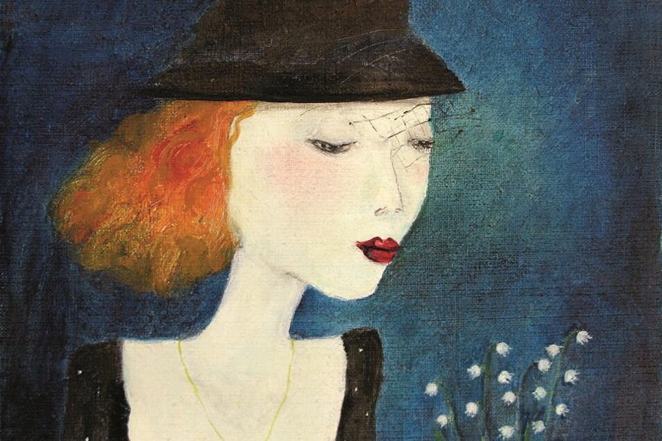 """""""Maiglöckchen"""" heißt dieses Gemälde von hat Jutta Mirtschin aus dem Jahr 1994."""